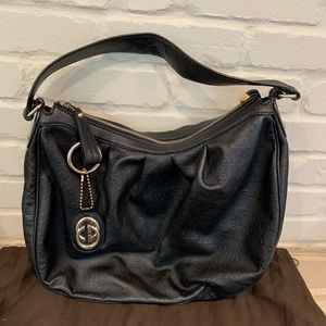 Gucci Sukey Black Leather Logo Handbag